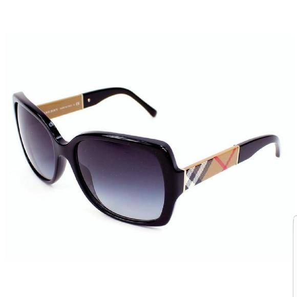 162a47836736 Burberry Accessories - Burberry Black Sunglasses w Tartan Sides